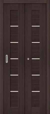 Дверь складная межкомнатная el-PORTA(Эль Порта) Порта-22 Wenge Veralinga