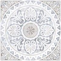 Керамическая плитка Vitra Marmori Декор Медальон Серый Лаппато Ректификат 60х60