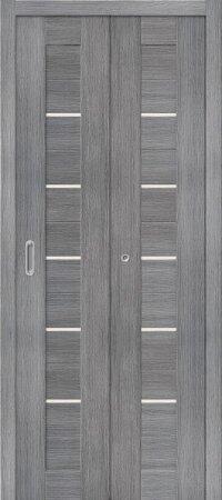Дверь складная межкомнатная el-PORTA(Эль Порта) Порта-22 Grey Veralinga