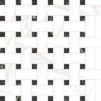 Керамическая плитка Vitra Marmori Мозаичный Микс Калакатта Белый 31.5х31.5