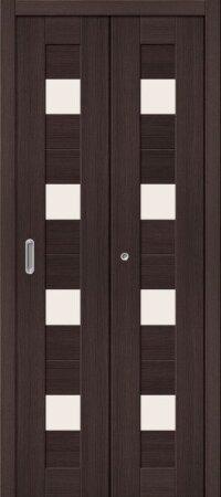 Дверь складная межкомнатная el-PORTA(Эль Порта) Порта-23 Wenge Veralinga