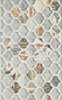 Керамическая плитка Paradyz Kwadro Brook Grafit motyw B плитка настенная 25х40