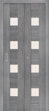 Дверь складная межкомнатная el-PORTA(Эль Порта) Порта-23 Grey Veralinga