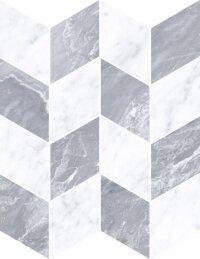 Керамическая плитка Vitra Marmori Декор Шеврон Холодный Микс 24x31