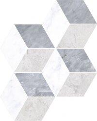 Керамическая плитка Vitra Marmori Микс Декор Ромб Холодный Микс 24x30