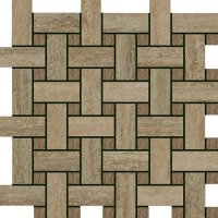 Керамическая плитка Italon 600110000061 Travertino Silver Mosaico Lounge 30.5х30.5