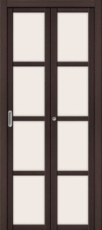 Дверь складная межкомнатная el-PORTA(Эль Порта) Твигги V4 Wenge Veralinga
