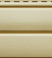 Cайдинг виниловый Ю-Пласт Блок-хаус Кремовый (3400х230мм) 0.78м²
