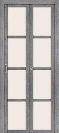 Дверь складная межкомнатная el-PORTA(Эль Порта) Твигги V4 Grey Veralinga