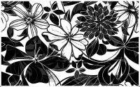 Керамическая плитка Нефрит-Керамика Декор Кураж-2 Жаклин черный 25х40