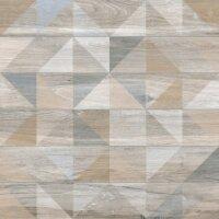 Керамическая плитка Vitra Bosco Серый Микс Декор Матовый Ректификат 60х60