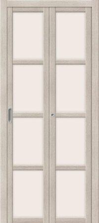 Дверь складная межкомнатная el-PORTA(Эль Порта) Твигги V4 Cappuccino Veralinga