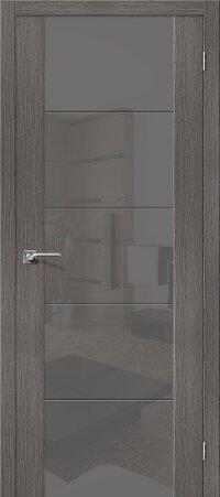 Дверь межкомнатная el-PORTA(Эль Порта) Vetro V4 S Grey Veralinga
