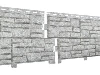 Фасадная панель Ю-пласт Стоун-Хаус Сланец светло-серый (2000мм*225мм) 0.45м²