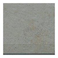 Керамическая плитка Paradyz Клинкер Kiasmos Beige Ступень прямая структурная 30x30