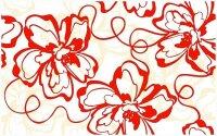 Керамическая плитка Нефрит-Керамика Декор Кураж-2 Монро красный 25х40
