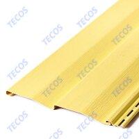 Сайдинг виниловый Tecos(Текос) Корабельный брус Светло-желтый (3660х230мм) 0.842м²