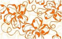 Керамическая плитка Нефрит-Керамика Декор Кураж-2 Монро оранжевый 25х40