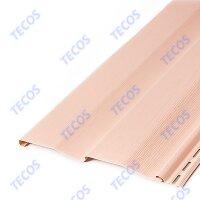 Сайдинг виниловый Tecos(Текос) Корабельный брус Светло-розовый (3660х230мм) 0.842м²