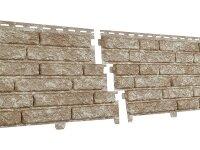 Фасадная панель Ю-пласт Стоун-Хаус Кварцит Светло-бежевый (2000мм*250мм) 0.5м²