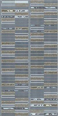 Керамическая плитка Azori Aura Atlantic Декор Geometria 31.5x63