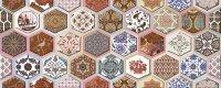 Керамическая плитка Azori Navarra Indigo Декор Arabesco 20.1x50.5