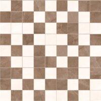 Керамическая плитка Kerlife Amani Avorio\Marron мозаика слоновая кость 29.4х29.4см
