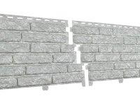 Фасадная панель Ю-пласт Стоун-Хаус Кварцит Светло-серый (2000мм*250мм) 0.5м²