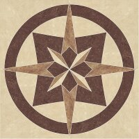 Керамическая плитка Paradyz MISTRAL Beige Rozeta декор напольный 80x80