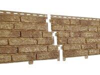 Фасадная панель Ю-пласт Стоун-Хаус Кварцит Тёмно-бежевый (2000мм*250мм) 0.5м²