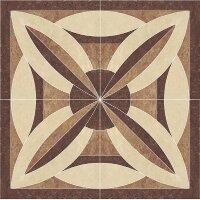 Керамическая плитка Paradyz MISTRAL Beige Rozeta декор напольный 1.2x1.2