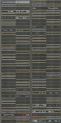 Керамическая плитка Azori Aura Grafite Декор Geometria 31.5x63