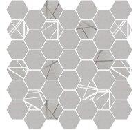 Керамическая плитка Delacora Baffin Gray Декор Mosaic Dark 31.6x29.7