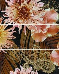 Керамическая плитка Gracia Ceramica Princess black panno 01 600х750