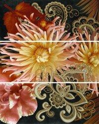 Керамическая плитка Gracia Ceramica Princess black panno 02 600х750