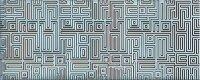 Керамическая плитка Azori Nuvola Aqua Декор Labirint 20.1x50.5