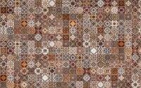 Керамическая плитка Cersanit Hammam HAG111 коричневый рельеф 20х44см