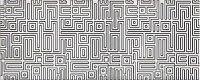 Керамическая плитка Azori Nuvola Aqua Декор Light Labirint 20.1x50.5