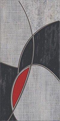 Керамическая плитка Azori Pandora Grey Декор Charm 63x31.5