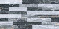 Керамическая плитка Vitra Bergamo 3D Микс Декор Холодная гамма Лаппато Ректификат 30х60