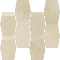 Керамическая плитка Paradyz NATURSTONE Beige Hexagon Mix Мозаика 23.3х28.6