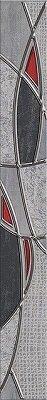 Керамическая плитка Azori Pandora Grey Бордюр Charm 63x7.5