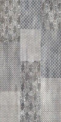 Керамическая плитка Azori Pandora Grey настенная Ornament 63x31.5