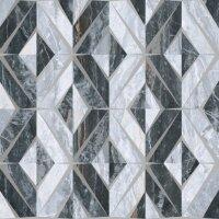 Керамическая плитка Vitra Bergamo Геометрический Микс Декор Холодная гамма Лаппато Ректификат 60х60