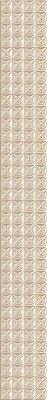 Керамическая плитка Azori Pandora Latte Бордюр Geometry 63x7.5