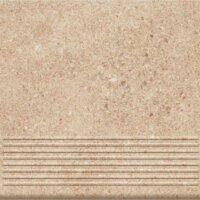 Керамическая плитка Paradyz Клинкер Granitos Beige ступень прямая структурная 30x30
