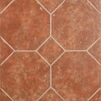 Керамическая плитка ZeusCeramica Octagon Rosso напольная 45x45