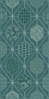 Декор Azori Devore Indigo Geometria 315x630