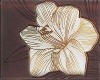 Керамическая плитка Нефрит-Керамика Вставка Лилия бежевая стекло 8х10