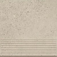 Керамическая плитка Paradyz Клинкер Stylo Blanco ступень прямая структурная 30x30
